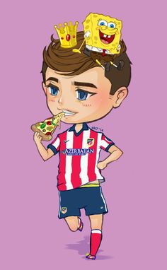 Le Petit Prince, Antoine Griezmann and Spongebob♥♥♥♥♥♥ When I read somewhere that healways wore his spongebob boxers to a match,it was just too cute XD (yeah he even hand carried his xbox during the WC…such dedication haha)  Not a fan of Atletico de Madrid, but I'm excited to see him play in la liga prminently :D