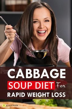 Diet Tips Cabbage Soup Diet For Rapid Weight Loss - Checking out diet plans to lose weight quickly? The cabbage soup diet is exactly what you need. Dieters have reported losing a whopping 10 pounds in just 7 days! Week Detox Diet, Detox Diet Drinks, Detox Diet Plan, Cleanse Diet, Stomach Cleanse, Soup Diet Plan, Juice Cleanse, Dukan Diet Plan, Cabbage Diet