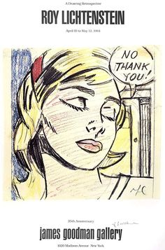 No Thank You, Signed by Roy Lichtenstein - 1984