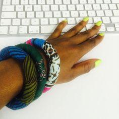 Back at work and on fleek thanks to @mariamccloy's #African print #bracelets...   #jewellery #Joburg #entrepreneurs #ankara by nomihandmade