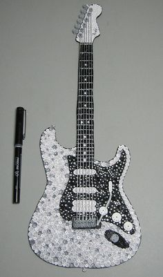 Quilling Fender Guitar by lkelley1973, via Flickr