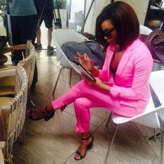 Bonang Matheba Body Confidence, Queen B, Office Ladies, Formal Wear, Her Style, Must Haves, Nice Dresses, Fashion Looks, Leather Jacket