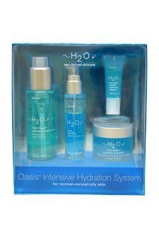 H2O+ Oasis Intensive Hydration System Kit for Normal, 4 Count by Carolina Herrera. $49.99. 4 Piece Set for Normal-Normal/Oily Skin.. Oasis Intensive Hydration System:  1x Face Oasis Cleansing Water 118ml/4oz  1x Face Oasis Hydrating Treatment 50ml/1.7oz  1x Oasis Hydrating Toner 25ml/0.85oz  1x Eye Oasis Moisture Replenishing Treatment 7ml/0.24ozProduct Line: H2O+ - Night CareProduct Size: 4pcs. Save 14%!