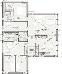 Entréplan 139 kvm Family House Plans, New House Plans, Architecture Plan, Interior Architecture, House Blueprints, Planer, Future House, Interior Inspiration, New Homes