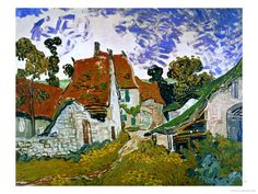 Street in Auvers (Les Toits Rouges), c.1890 Giclee Print by Vincent van Gogh at AllPosters.com