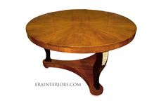 Biedermeier Round Center Table with Ebonized Legs by ERA Interiors Custom Dining Tables, Center Table, Wood Projects, Interiors, Legs, Decoration, Furniture, Home Decor, Decor