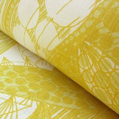 Shoki Linen Print for curtains and blinds
