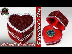 valentine day ring box | Heart box | Art with Creativity 130 - YouTube