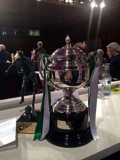 Bonito trofeo de campeón que pasa a englosar las vitrinas del Villamarín gracias a la gran temporada del Betis B;