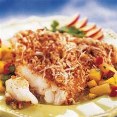 Pecan Coconut Crusted Fish