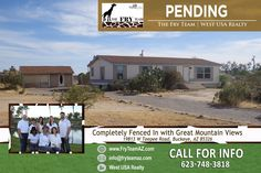 """We are now PENDING on this """"Completely Fenced In with Great Mountain Views""""     If you are looking to sell or buy a home, let The Fry Team make it simple for you... CALL 623-748-3818 or visit us at www.FryTeamAZ.com for more information.     #Pending #Residential #HomeForSale #TeepeeRoad #Buckeye #AZ #RealEstate #TheFryTeam #HomeBuying #HomeSelling #WestUSARealty"""