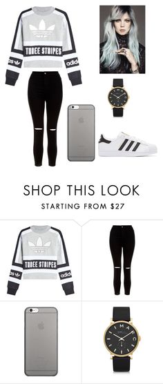 """Hanna"" by raffaela-barth on Polyvore featuring New Look, Native Union, Marc by Marc Jacobs and adidas Originals"