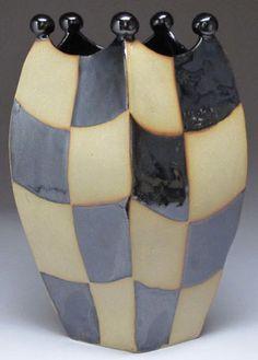 Whimsical Stoneware Pottery Vases By Batton Clayworks In Asheville North Carolina Handmade Slab Built Functional Dining Entertaining