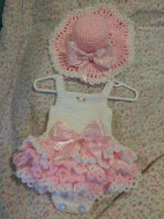 Fits newborn to three months, ready to ship.