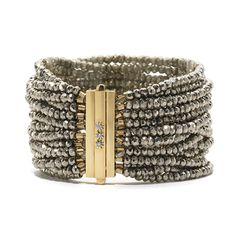 Elizabeth Showers Pryite and 18K gold clasp bracelet