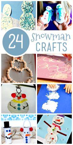 24 Snowman Crafts for Kids