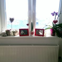 Love my room. Hearts everywhere. White and red.