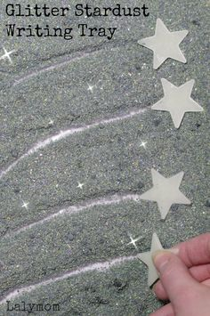 Glitter Stardust Writing Tray - Fun and Easy Writing Activities for Kids and cool sensory material too!
