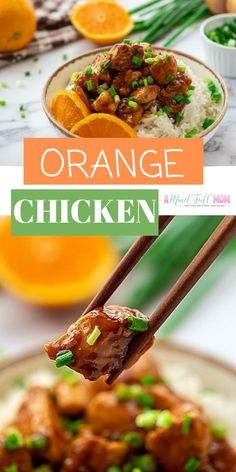 Skip the take-out and in less than 30 minutes you can have Orange Chicken that is better for you and better tasting than any take out! This recipe for Homemade Orange Chicken is made with tender chicken breasts and sweet and spicy citrus sauce that can't Crispy Orange Chicken Recipes, Healthy Orange Chicken, Yummy Chicken Recipes, Chicken Breast Recipes Healthy, Orange Recipes, Yum Yum Chicken, Real Food Recipes, Cooking Recipes, Healthy Recipes