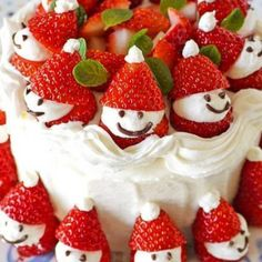 Strawberry Santa with cream cheese filling.  I'm sure the kids (big and little) will love them. Looks fun to eat!