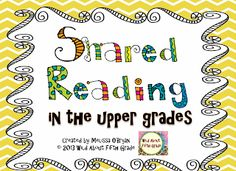 Wild about fifth grade: Friday Freebie - Shared Reading in the Upper Elementary