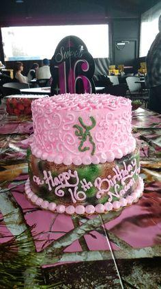 Pink Camo Cake Pink Camo Birthday, Cowgirl Birthday Cakes, Baby Girl Birthday Cake, 13th Birthday, Birthday Ideas, Redneck Cakes, Redneck Wedding Cakes, Pretty Cakes, Beautiful Cakes