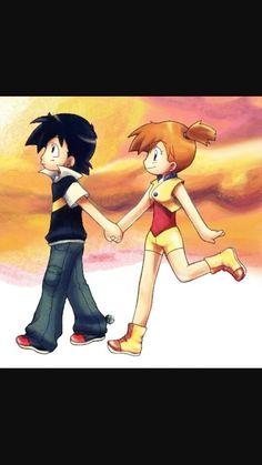 Love them Pokemon Ash And Misty, Ash Pokemon, Pokemon Ships, Pokemon Fan Art, Pikachu, Pokemon Couples, Ashes Love, List Of Characters, Kawaii Chibi