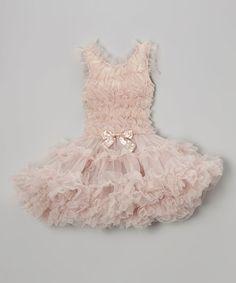 Look what I found on #zulily! Ivory Ruffle Bow Dress - Toddler & Girls by Popatu by Posh #zulilyfinds