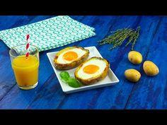 Man nehme eine geteilte, ausgehöhlte Kartoffel und lasse ein Ei hineingleiten. Das ist fast schon wie Ostern!