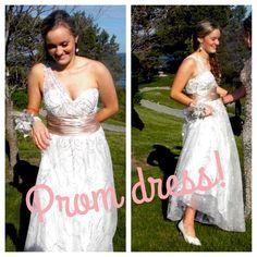 White Prom Dress Size 8