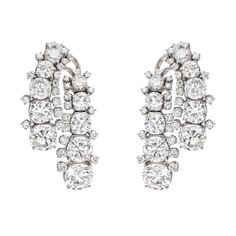 "Estate Harry Winston Diamond ""Waterfall"" Earrings"