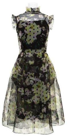 ERDEM Green Dress - Lyst