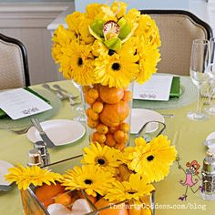 Planning a party around the color yellow? We've got yellow inspiration right here! | The Party Goddess! #yellow #partyideas #partyplanning #partyplanner Yellow Flowers, Color Yellow, Host A Party, Event Decor, Event Design, Color Inspiration, Party Planning, Party Themes, Orchids