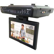 Silver ,BLACK IKTD1037S iLive Under Cabinet Bluetooth Wireless CD//DVD//FM Radio Player