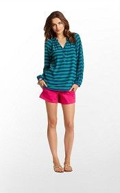 Lilly Pulitzer elsa top in starboard stripe
