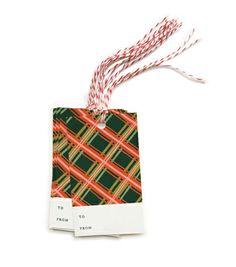 Holiday Plaid Gift Tags $7.00