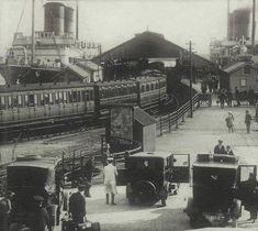 Dunlaoghaire Co Dublin Ireland. Carlisle pier mailboat and train a hub of activity in its day, circa Old Pictures, Old Photos, Gone Days, Images Of Ireland, Photo Engraving, Dublin City, Emerald Isle, Dublin Ireland, Carlisle