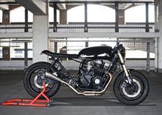 """deBolex Mk3"" Honda CB750 Sevenfifty by deBolex | Yamaha R1 forks | Shorai lithium battery | Honda CB650 fuel tank | London | via silodrome.com"