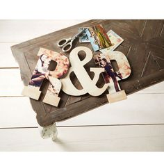 Personalize these wooden letters with your favorite photos.  Perfect for gift giving!