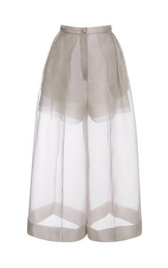 Organza Pant With Side Pleats by DELPOZO - Moda Operandi