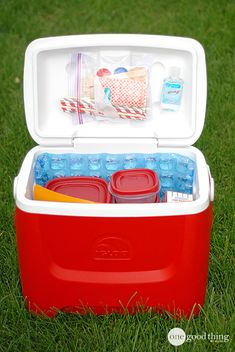 Learn how to pack the perfect cooler for your next road trip. | One Good Thing by Jillee