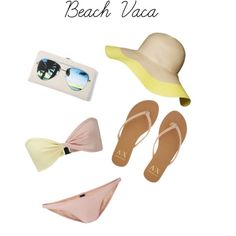 Beach Vaca by kmkstyling, via Polyvore