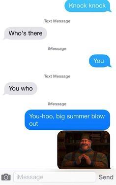 Frozen knock-knock joke