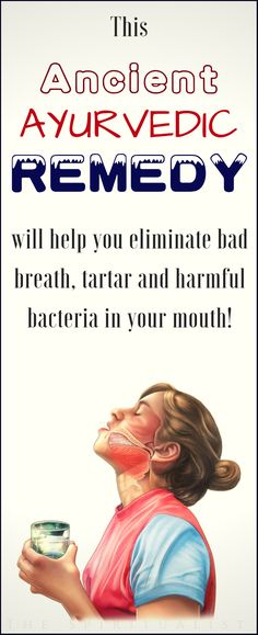 Remedies Natural This Ancient AYURVEDIC Remedy will help you eliminate bad breath, tartar and harmful bacteria in your mouth! Oral Health, Health And Nutrition, Health And Wellness, Health Tips, Health Fitness, Ayurvedic Remedies, Arthritis Remedies, Health Remedies, Healthy Beauty
