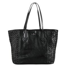 cole hahn tote. diggin the weave accent on sides
