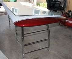 Desk made from a tail wing. Flying. Pilot. Wing desk #piperwings #aviation