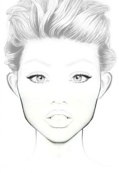 90 best freelance makeup artist images makeup brushes faces Freelance Makeup Resume face chart face template makeup makeup face charts mac face charts makeup art