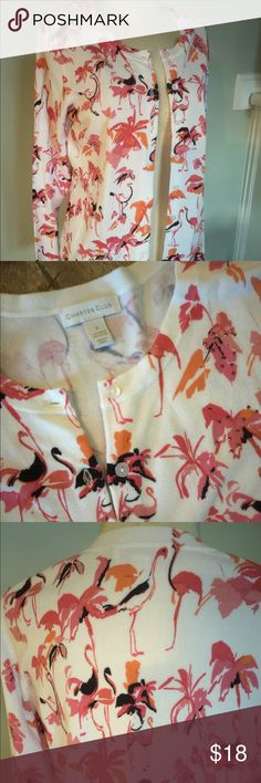 Charter Club flamingo Cardigan Sweater Sz S Great Spring Sweater,lite weight.Excellent condition & quality made!Sz S.Never worn. Charter Club Sweaters Cardigans