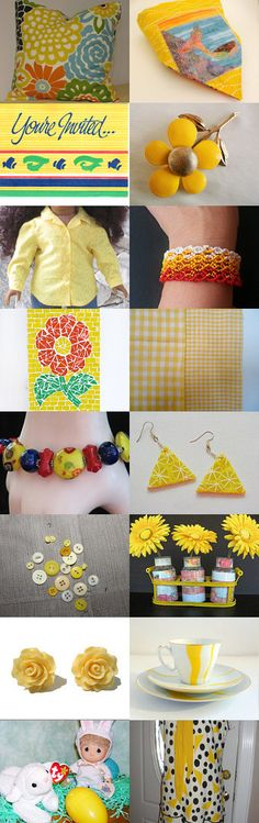 Yellow Colors of Nature by Carrie Cronkite on Etsy--Pinned with TreasuryPin.com #Etsyvintage #Estyhandmade #summerfinds