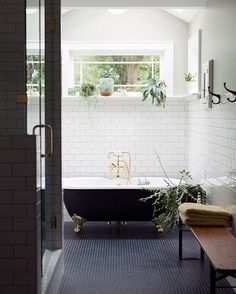 Hello, dream bathroom. I love you. From today's home tour with Joseph and Rachel in Greenville, SC.  by Paige French & Chris Isham  (link in profile to full home tour)